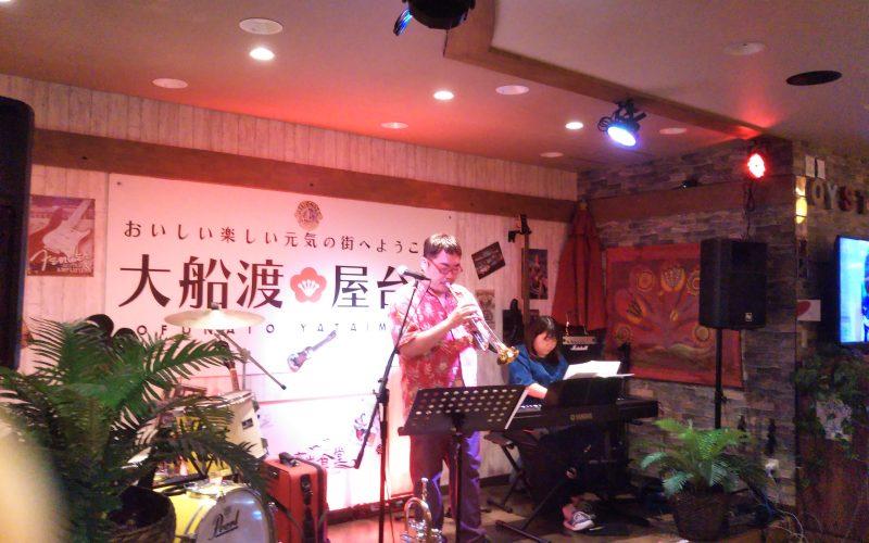 ミトラバ大船渡湾岸食堂で生ライブ